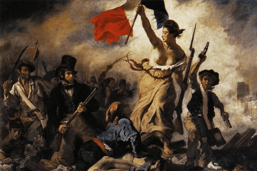 La libertad guiando al pueblo. Delacroix