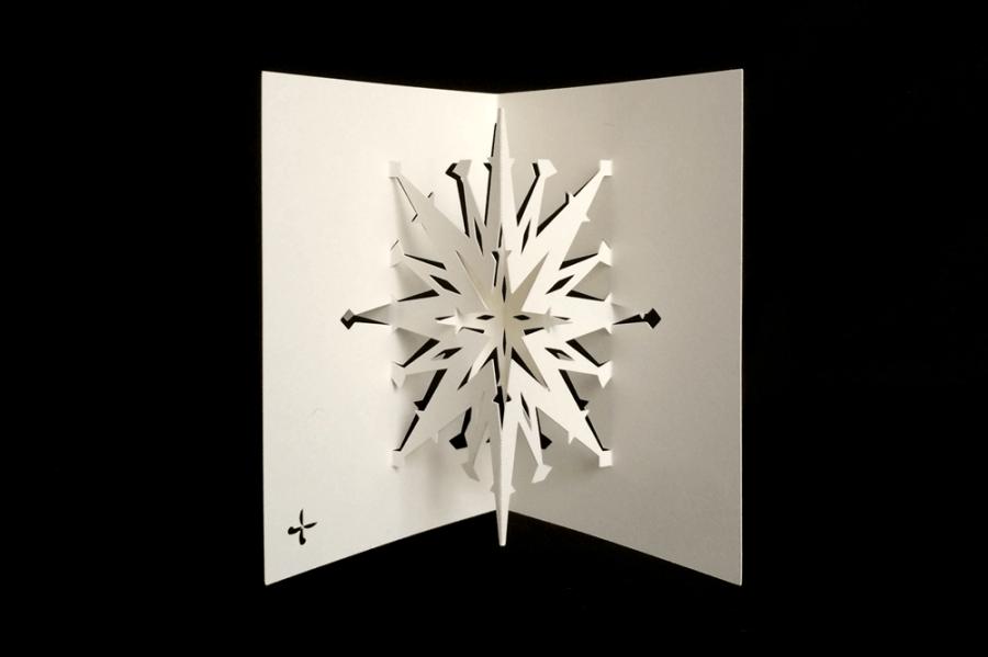 Tarjeta Navideña Copo de Nieve