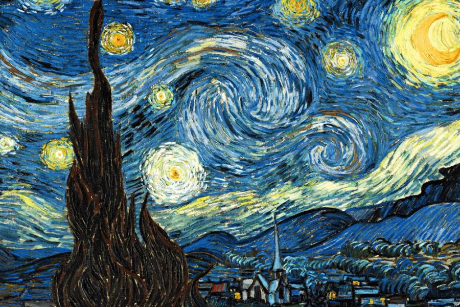 La noche estrellada. Van Gogh